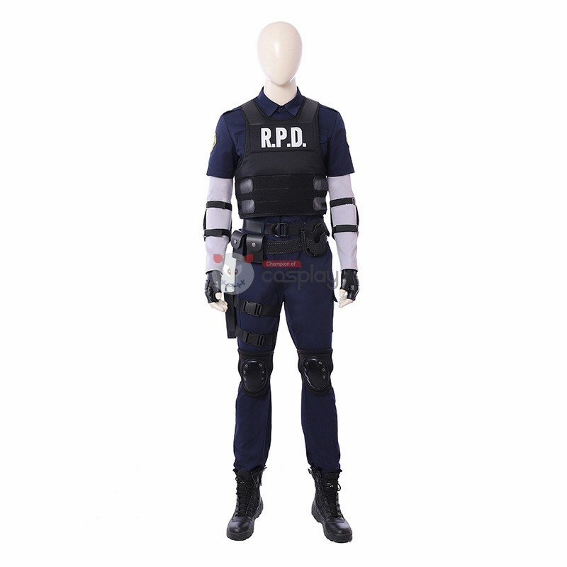 Resident Evil 2 Cosplay Costume Leon S Kennedy R P D Suit