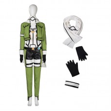Sword Art Online II Asada Shino Hecate Green Cosplay Costume