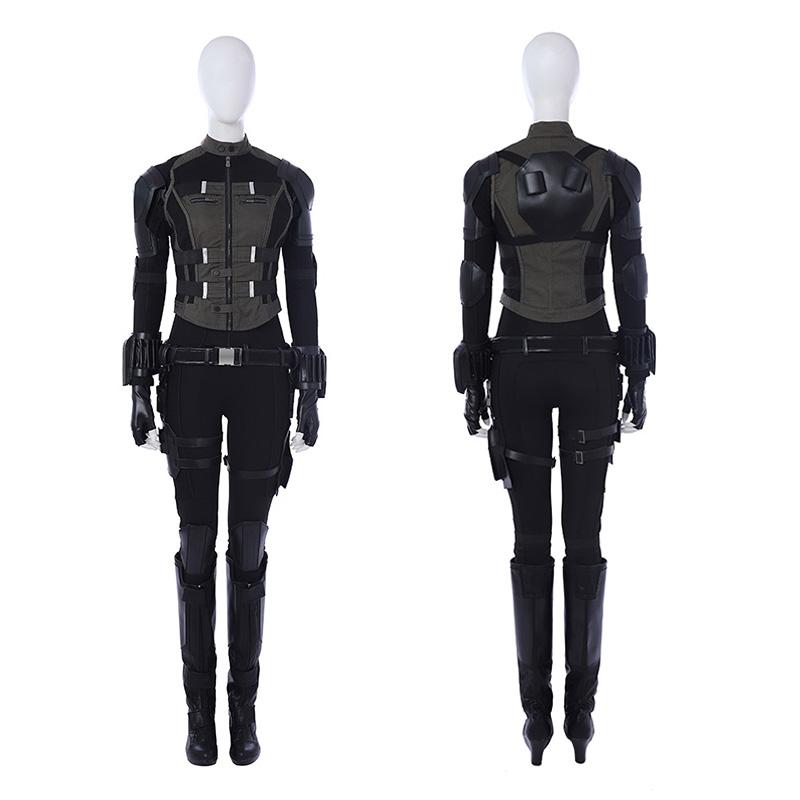 Black Widow Natasha Romanoff The Avengers Cosplay Costume