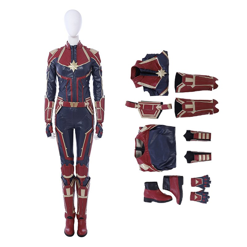 Captain Marvel Carol Danvers Cosplay Costume-A Edition