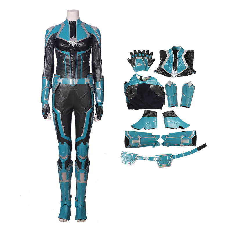 Full Set Captain Marvel Costume StarForce Uniform Cosplay Costumes