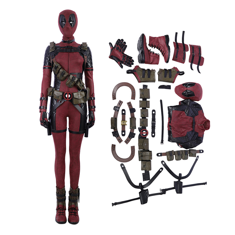 Deadpool 2 Lady Costume Woman Cosplay Costume Deluxe Version - Top Level