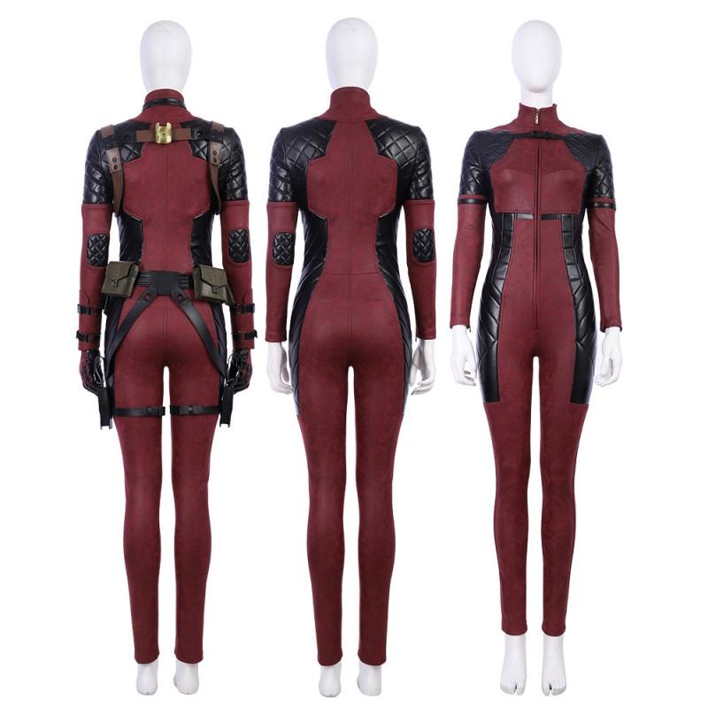 Deadpool 2 Lady Costume Woman Cosplay Costume Luxury Suit