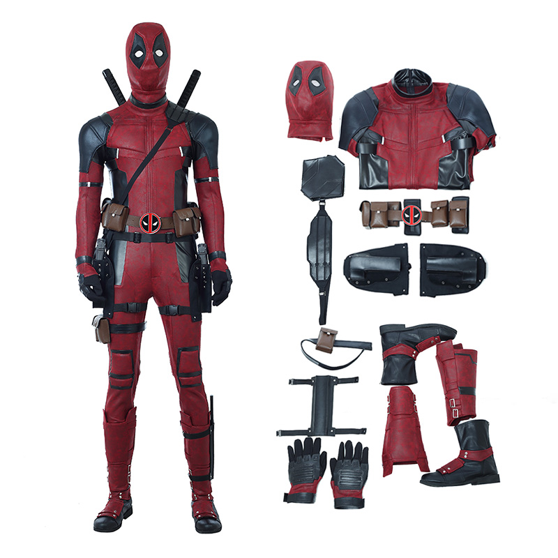 2018 Deadpool 2 Costume Wade Wilson Cosplay Costume Deluxe Version - Top Level