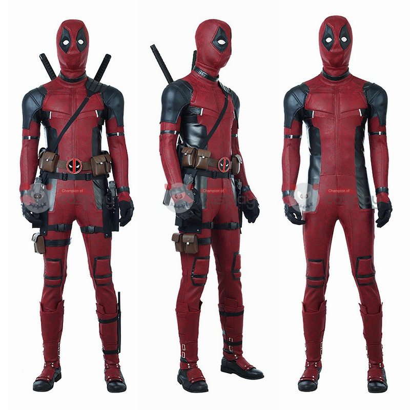 Ready To Ship Deadpool 2 Costume Wade Wilson Deadpool Cosplay Costume Luxury Suit