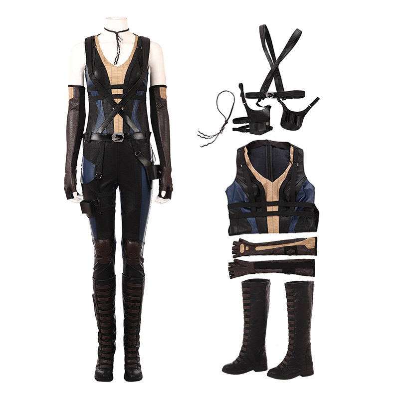 Deadpool 2 Costume Domino Cosplay Costumes Deluxe Version
