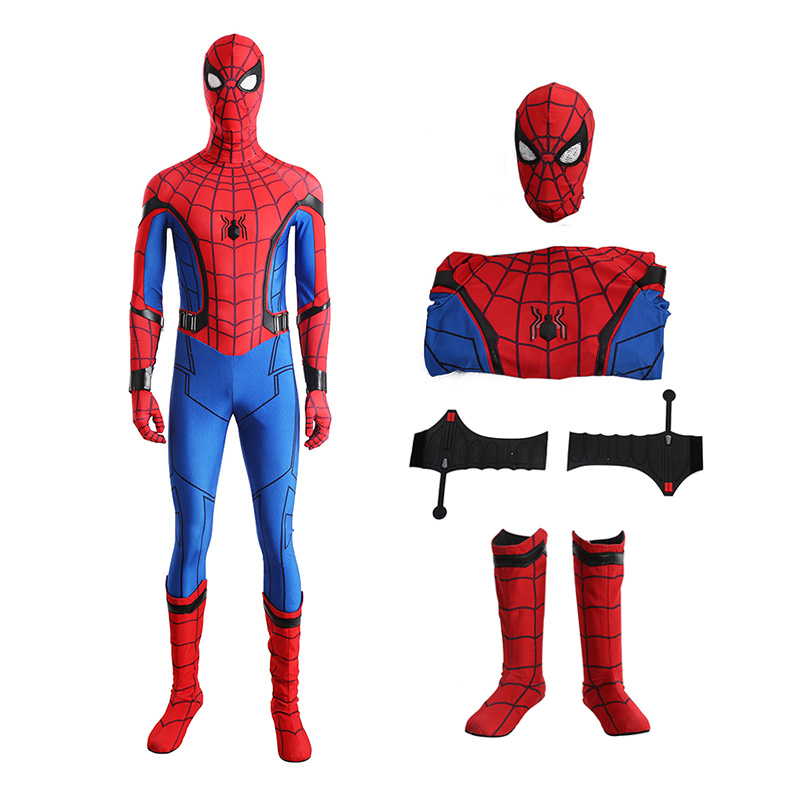 Spider-Man 1 Homecoming Peter The Avengers Halloween Cosplay Costume
