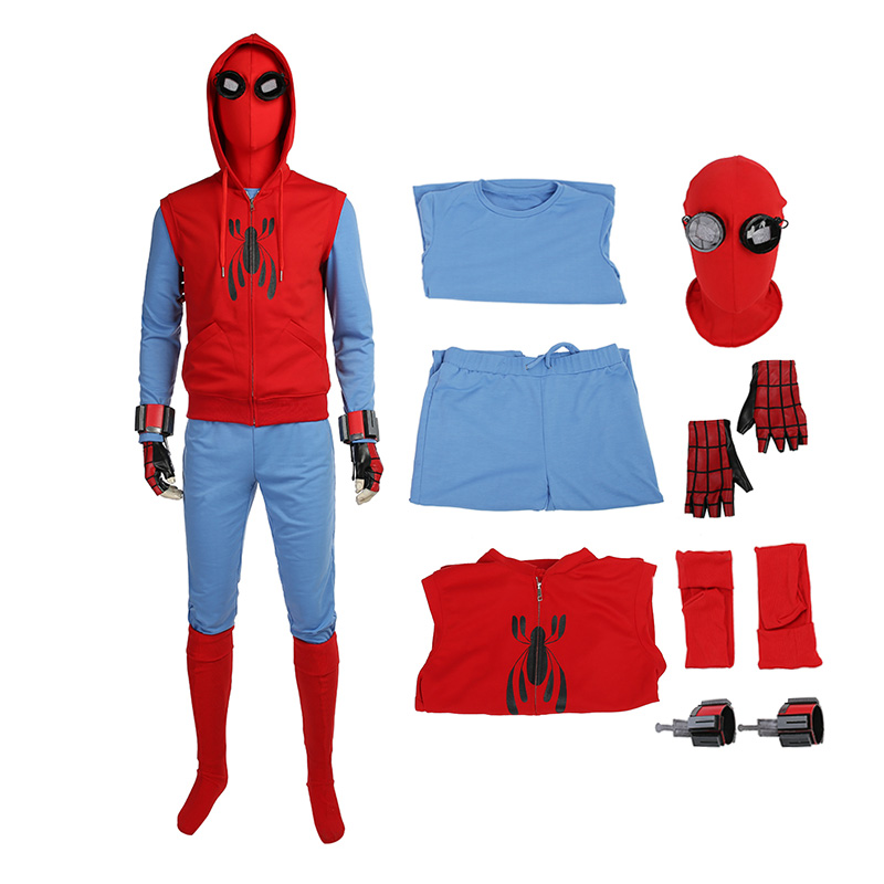 Spider Man Homecoming Peter Park The Avengers Cosplay Costume