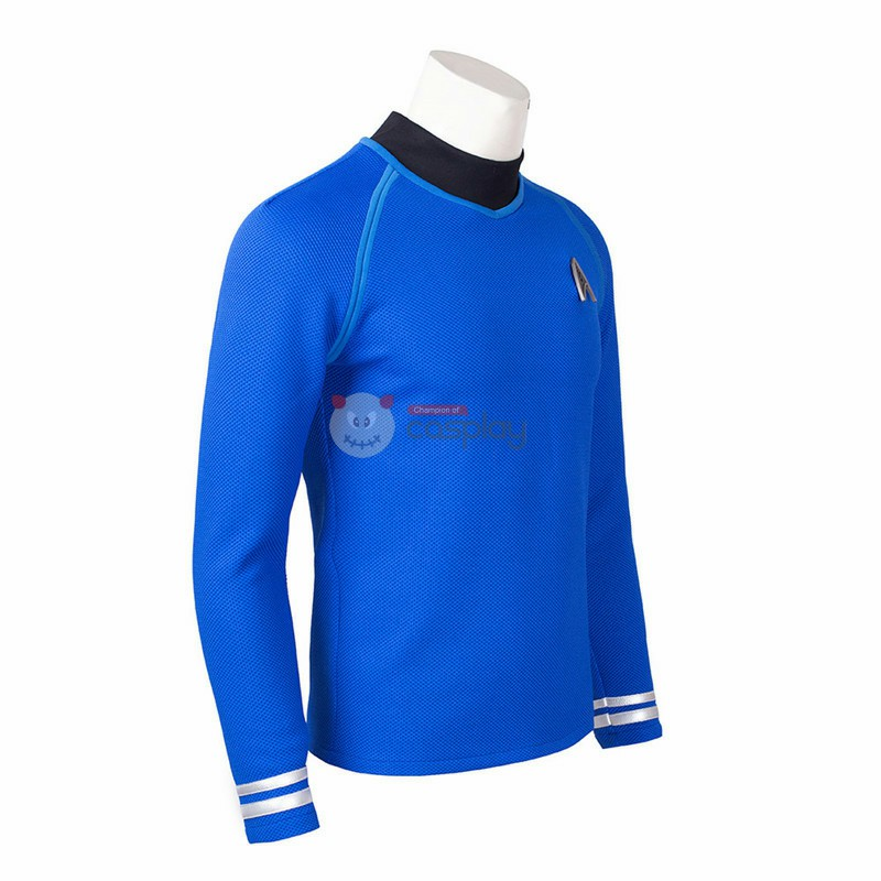 Star Trek Polk Long Sleeve Blue T-Shirt Sweater Jacket Cosplay Costume