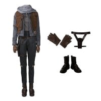 Rogue One A Star Wars Story Jyn Erso Cosplay Costume Top Level Suit