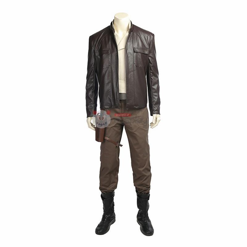 Star Wars 8 The Last Jedi Poe Dameron Cosplay Costume Full Set