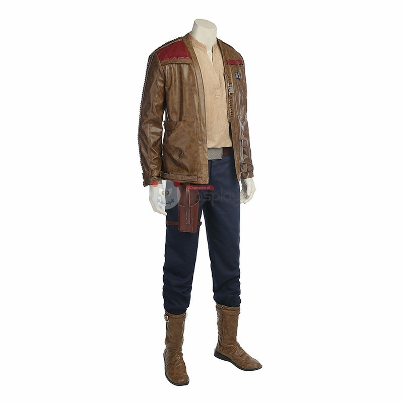 Star Wars 8 The Last Jedi Finn Cosplay Costume Halloween Deluxe Outfit
