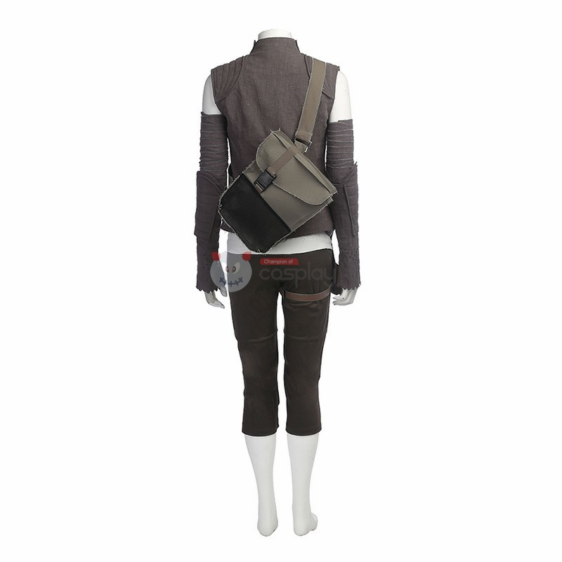 Star Wars 8 The Last Jedi Rey Cosplay Costume - New Edition