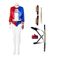Suicide Squad Harley Quinn Cosplay Costume - Deluxe Version