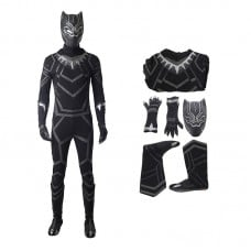 The Avengers Captain America Black Panther Costume T'Challa Cosplay Costume