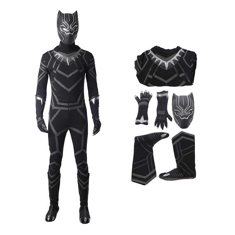The Avengers Captain America Black Panther T'Challa Cosplay Costume