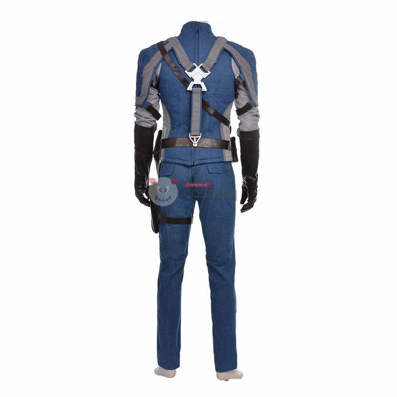 The Avengers Captain America Cosplay Costume Deluxe Outfit