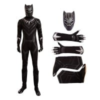 The Avengers Captain America Civil War Black Panther Cosplay Costume Deluxe Outfit