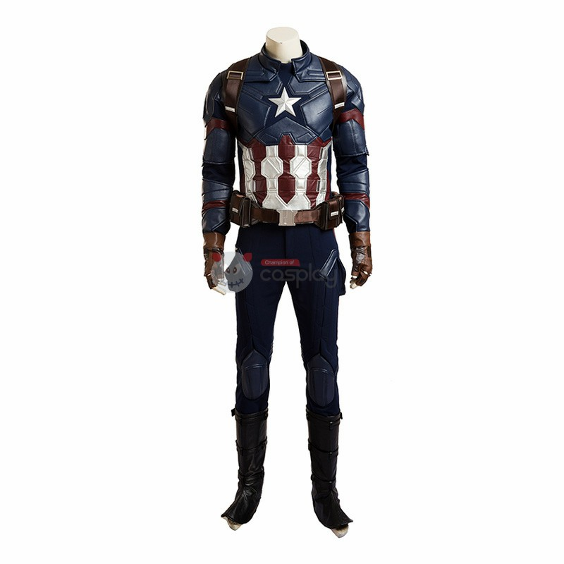 The Avengers Captain America Civil War Steve Rogers Cosplay Costume