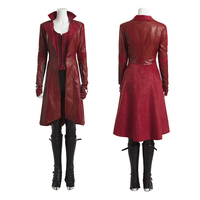 Marvel Captain America Civil War Scarlet Witch Wanda Maximoff Cosplay Costume Deluxe Outfit