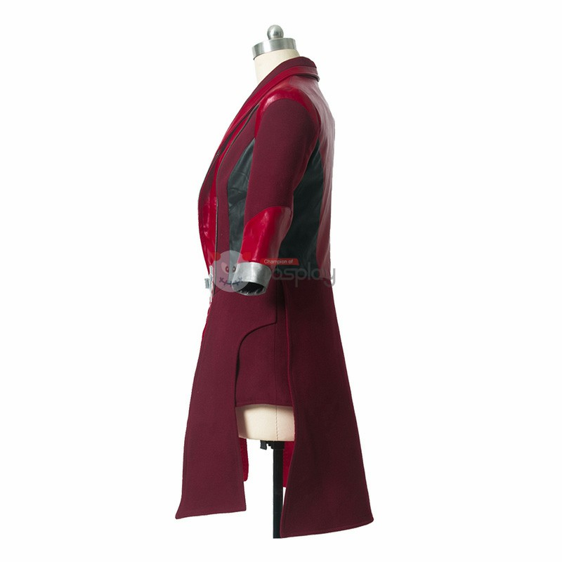 Miracle Avengers 2 Age of Ultron Scarlet Witch Long Jacket Cosplay Costume