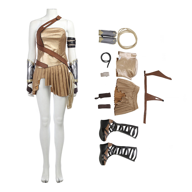 Wonder Woman Diana Prince Costume Amazonian Warrior Cosplay Costume Top Level