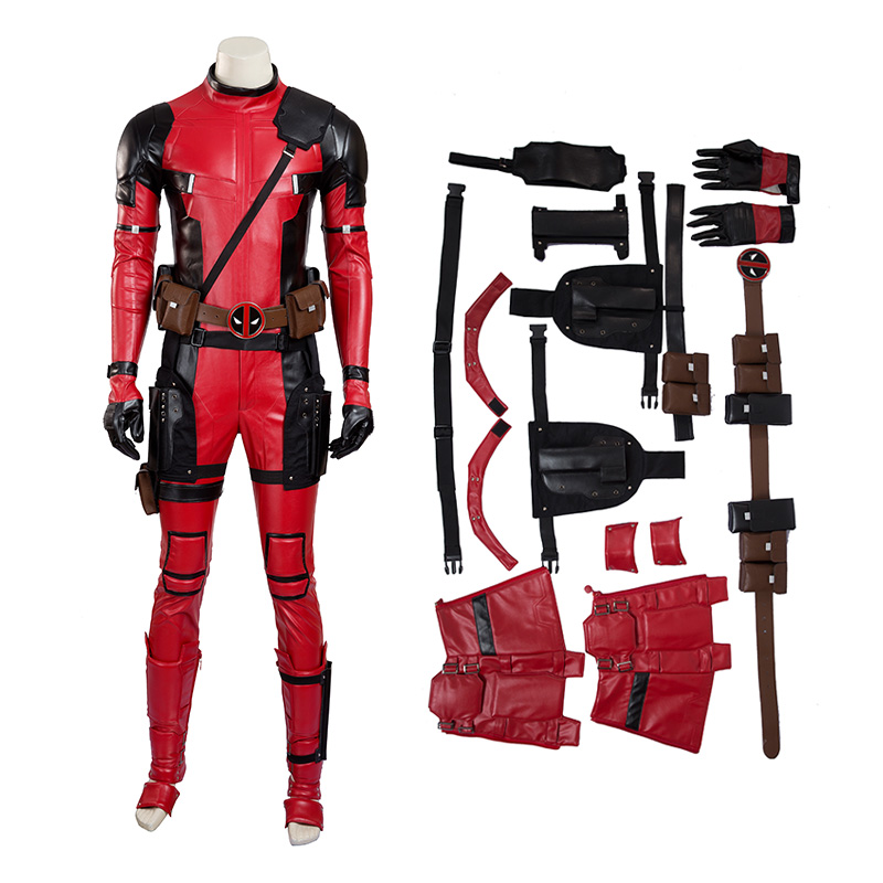 X-Men Deadpool Costume Wade Wilson Cosplay Costume Deluxe Version - Top Level
