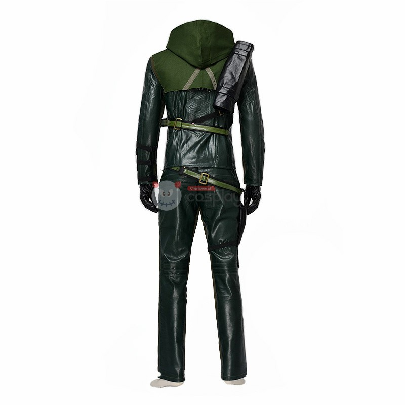 DC Green Arrow First Season Hero Oliver Cosplay Costume