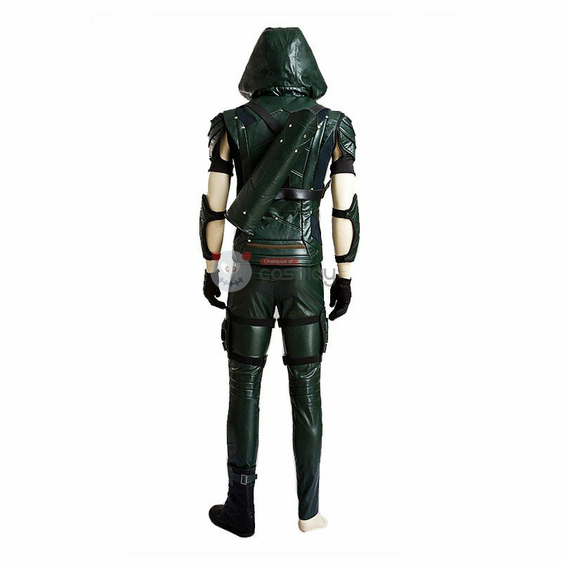 DC Green Arrow Four Seasons Upgrade Hero Oliver Cosplay Costume