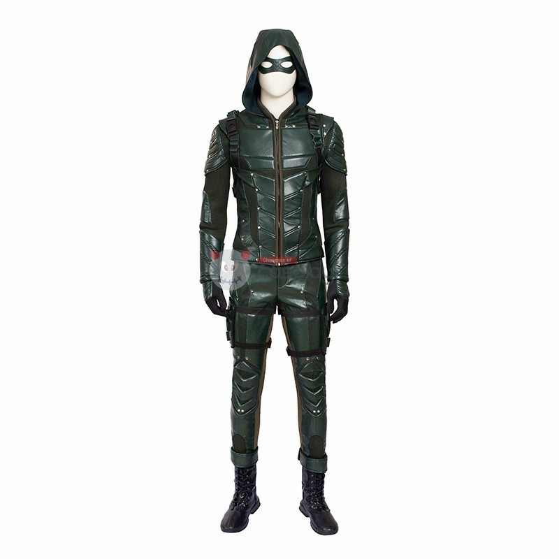 DC Green Arrow Season 5 Oliver Queen Cosplay Costume
