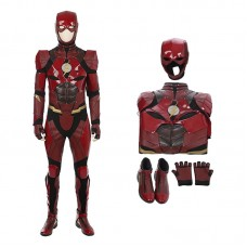 DC Justice League Movie The Flash Barry Allen Cosplay Costume
