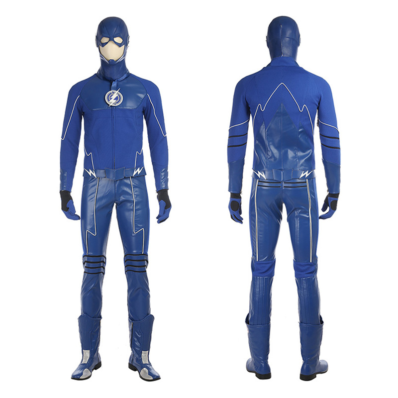 DC The Flash Blue Future Barry Allen Cosplay Costume