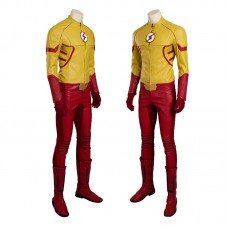 The Flash Season 3 Kid Flash Wally West Cosplay Costume