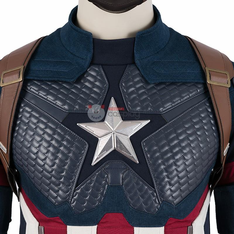 Captain America Cosplay Costumes Avengers Endgame Steve Rogers Costume