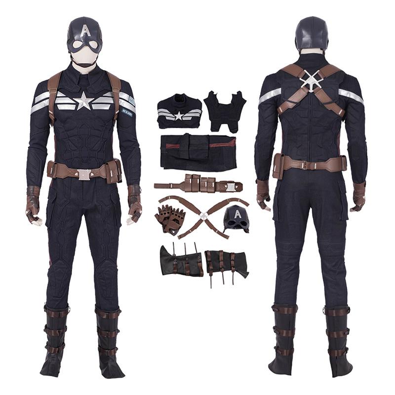 Steve Rogers Costume Avengers Endgame Captain America Cosplay Costumes