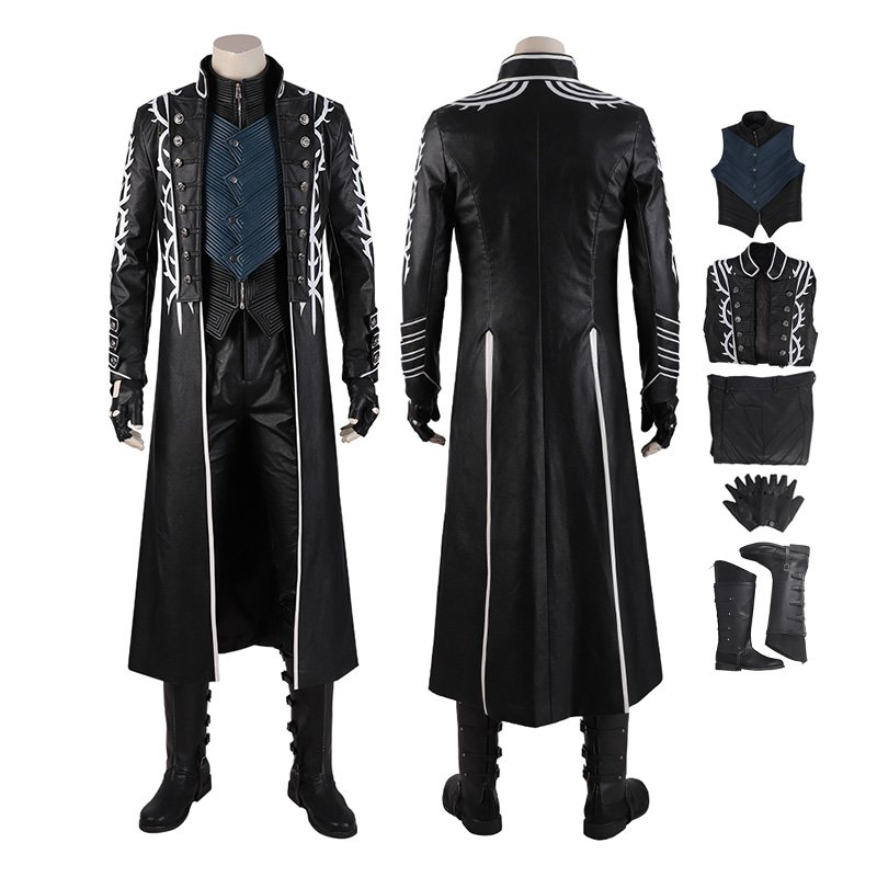 Vergil Costume Devil May Cry 5 Cosplay Costumes Windbreaker Full Set