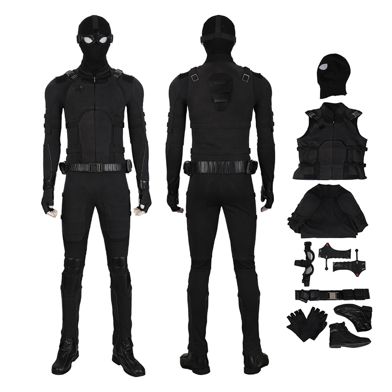 Spider Man Far From Home Cosplay Costume Spider-Man Noir / Stealth Suit
