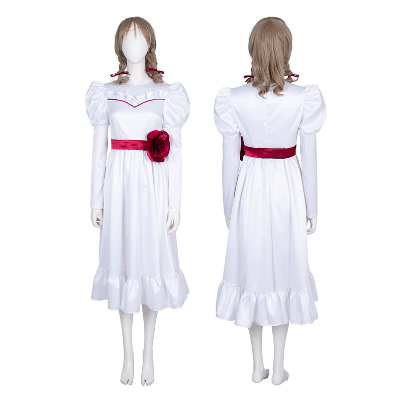 Ghost Baby Costume Annabelle Classic White Dress Cosplay Costumes