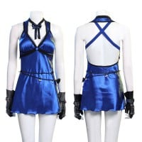 Tifa Lockhart Costumes Blue Final Fantasy VII Remake Cosplay Costume