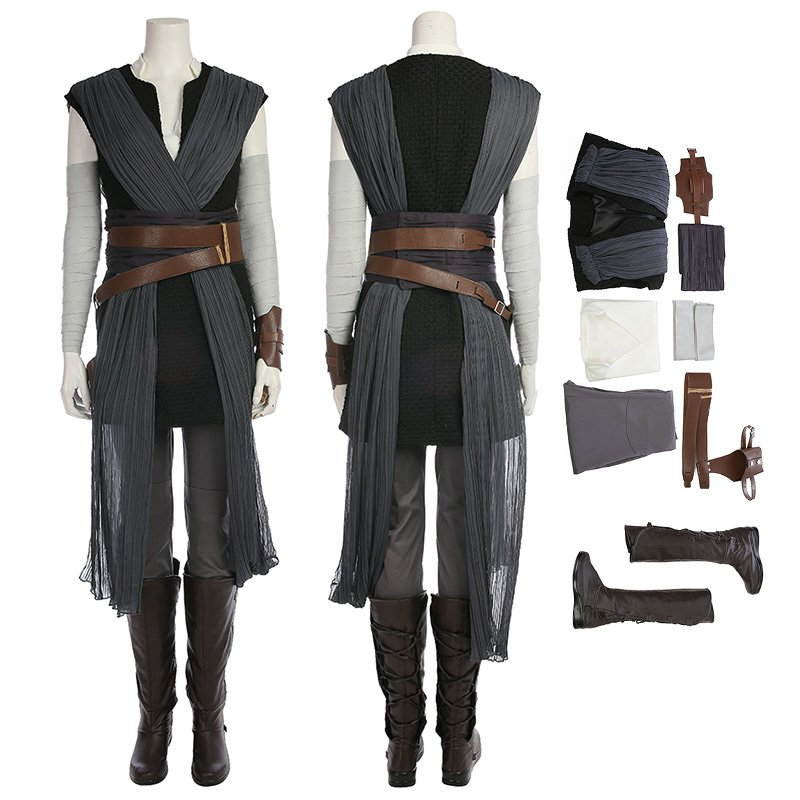 Star Wars 8 Rey Cosplay Costume Top Level