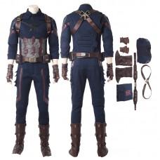Captain America Costumes Avengers Infinity War Steve Rogers Cosplay Costume