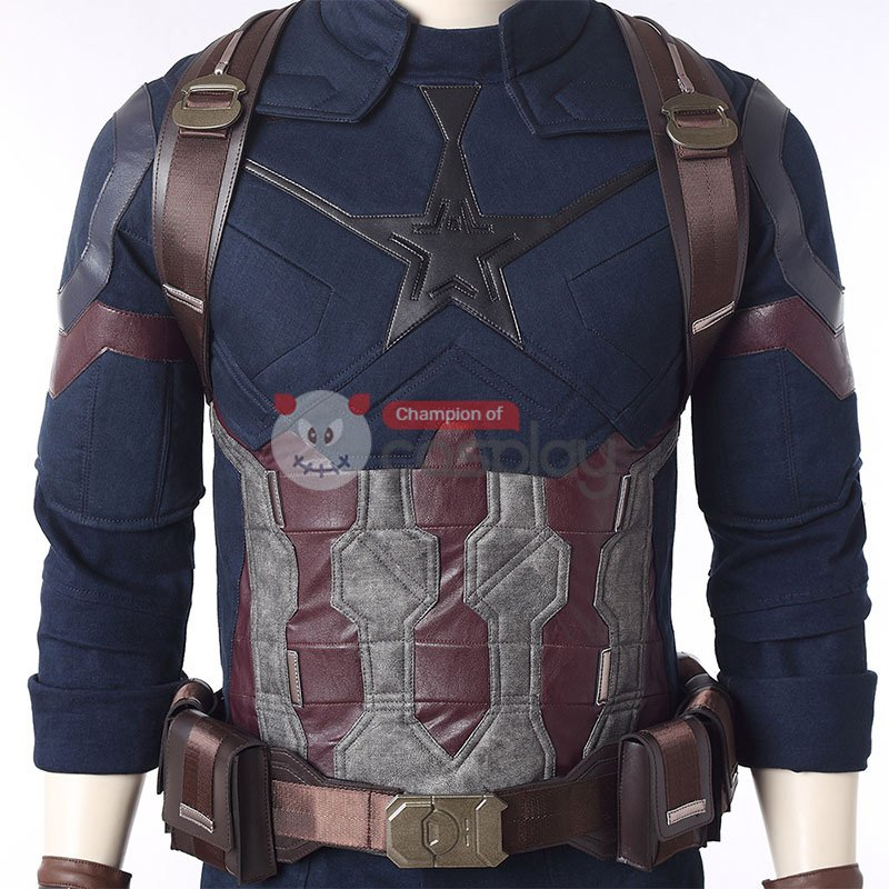 Captain America Costumes Avengers Infinity War Steve Rogers Cosplay Costume