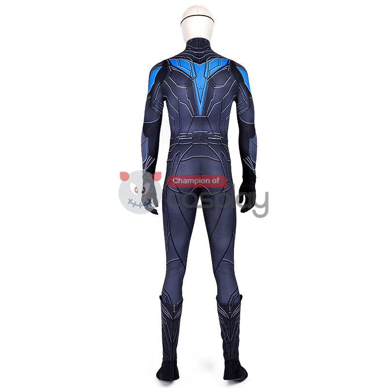 Titans Nightwing Dick Grayson Costume Cosplay Suit