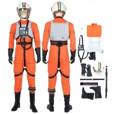 Star Wars Costumes Luke Skywalker X-Wing Pilot Fighter Cosplay Costume