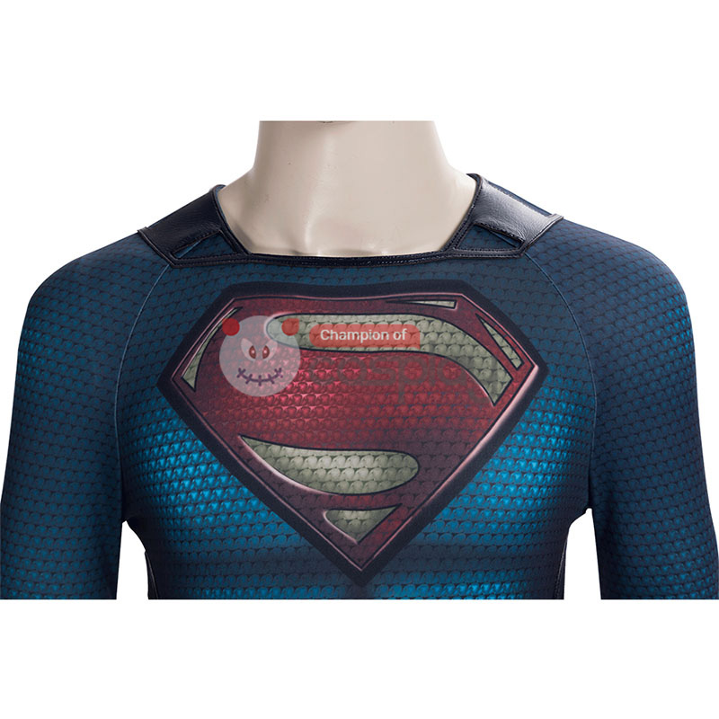 Superman Jumpsuit Man of Steel Clark Kent Cosplay Costume