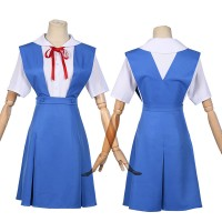 Rei Ayanami Cosplay Costume Neon Genesis Evangelion Asuka Langley Soryu Uniform for Women