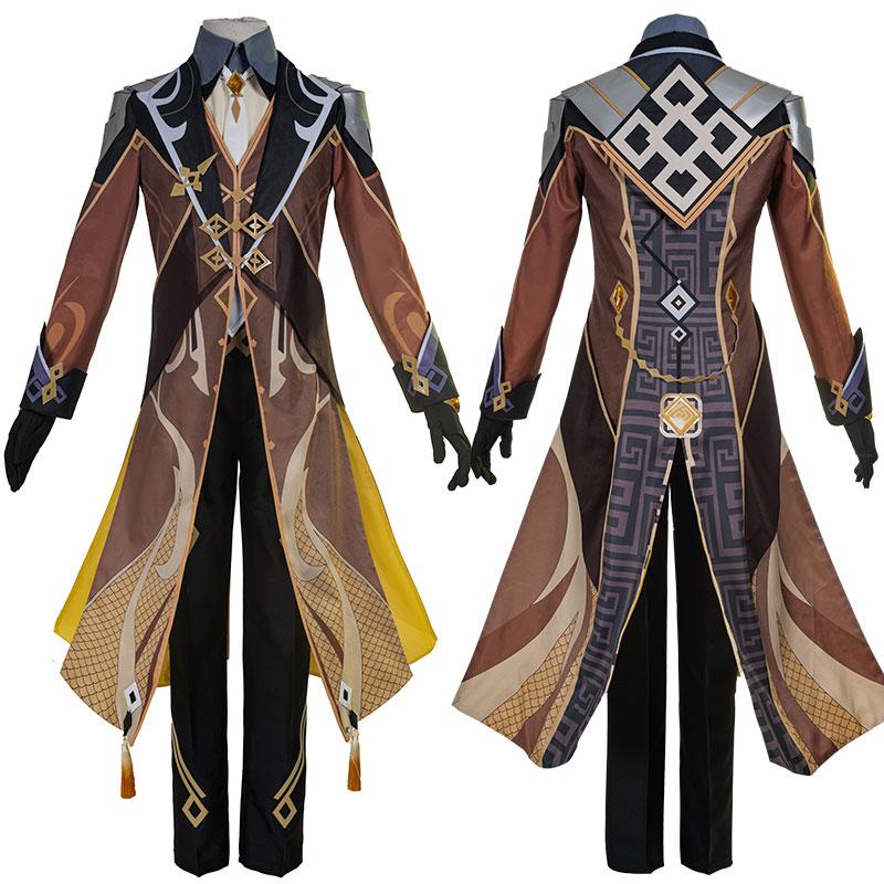 Genshin Impact Zhongli Cosplay Suit Vago Mundo Costume