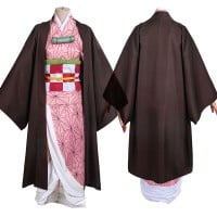 Demon Slayer Kimetsu No Yaiba Cosplay Suit Nezuko Kamado Costume