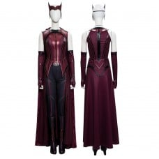 2021 New Scarlet Witch Cosplay Wanda Maximoff Costume WandaVision Upgraded Version