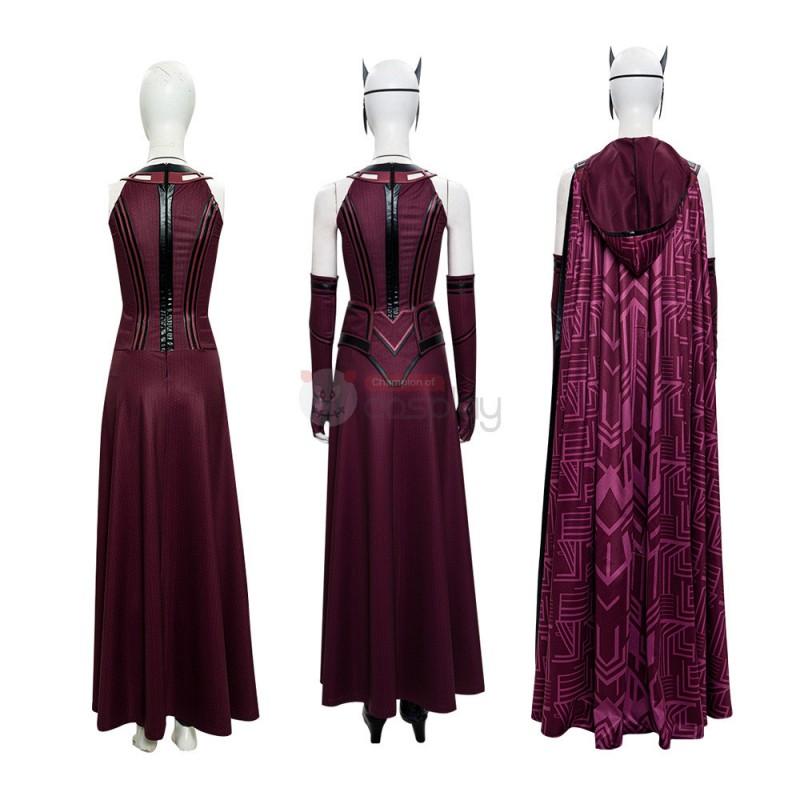 2021 New Scarlet Witch Cosplay Wanda Maximoff Costume WandaVision Upgraded Version